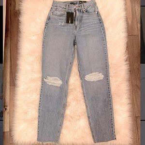 Fashion Nova distressed mom jeans - size 1
